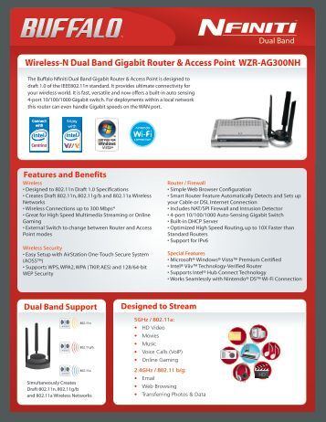 Wireless-N Dual Band Gigabit Router & Access Point ... - tastarsupply
