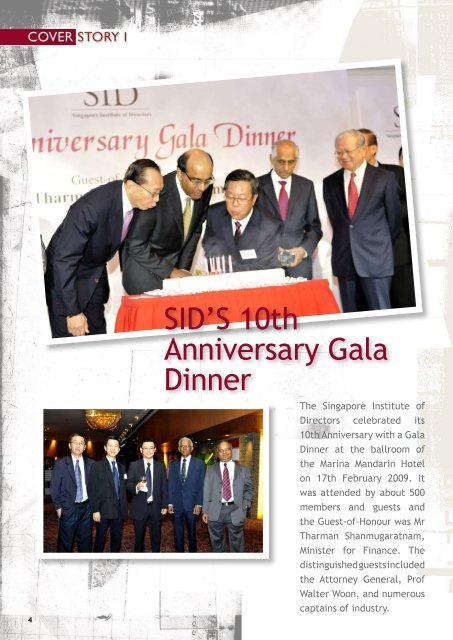 SID'S 10th Anniversary Gala Dinner - Singapore Institute of Directors
