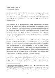 1 Aleksej Nikolaevic Leont'ev1 Psychologie und Pädagogik2 Der ...