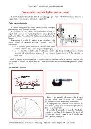 Strumenti di controllo degli organici meccanici - ITIS G. Galilei