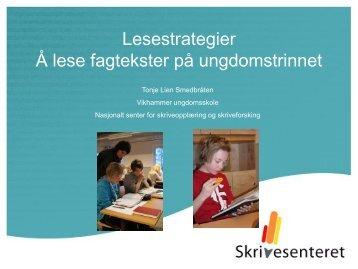 Lesestrategier på ungdomstrinnet - Lesesenteret