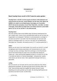 persbericht HISWA activiteiten 2008 NVvT - Nederlandse ...