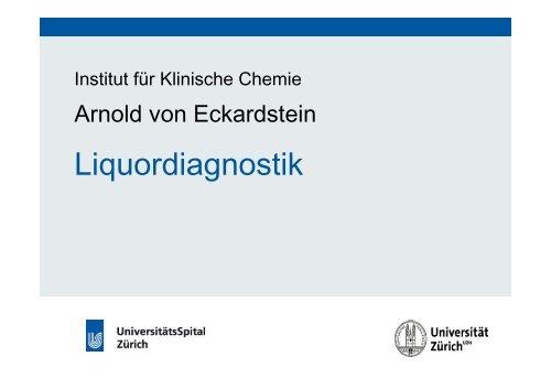 Liquordiagnostik - Institut für Klinische Chemie