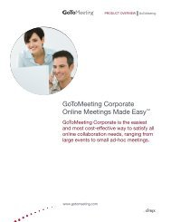 GoToMeeting Corporate Online Meetings Made Easy™ - Citrix Online