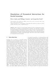 Simulations of Dynamical Interactions for Social Learning