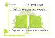 SSC : Système Solaire Combiné « Capteur ... - eco autonome