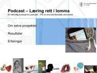 Læring rett i lomma, Opptak og podcast av forelesninger og digitale ...