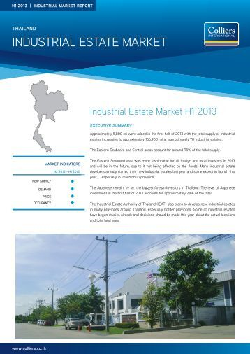 INDUSTRIAL ESTATE MARKET - Colliers