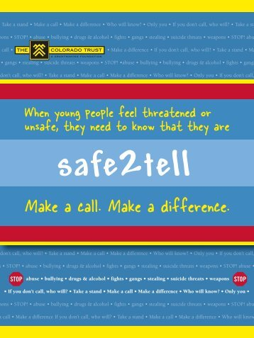 Safe2Tell Hotline - The Colorado Trust