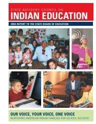 INDIAN EDUCATION - Public Schools of North Carolina