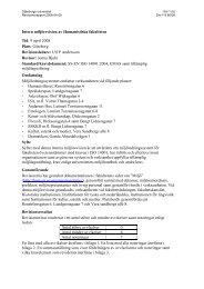 Intern miljörevision av Humanistiska fakulteten 080409