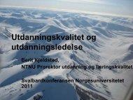 Klikk her for å laste ned presentasjonen - Norgesuniversitetet