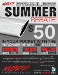 MBRP Inc. Stainless Summer Rebate Submission Form