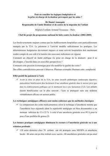 Dr Daniel Annequin - CNRD