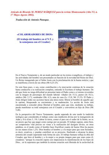 Artículo de Ricardo M. PEREZ MÁRQUEZ para la revista ...