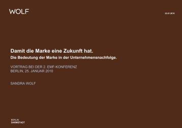 Damit die Marke eine Zukunft hat. - Emf-berlin.org