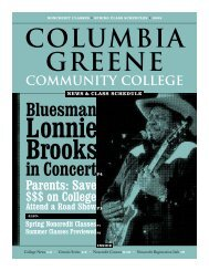 Spring 2009 News and Noncredit Class Schedule - Columbia ...