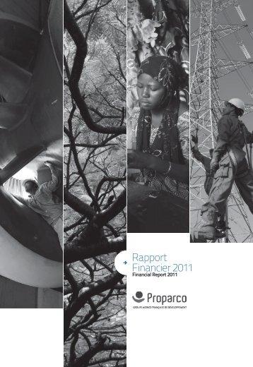 Télécharger le Rapport financier 2011 - Proparco