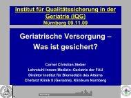 Geriatrische Versorgung – Was ist gesichert? - MDK Bayern