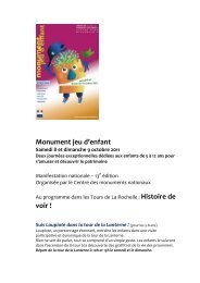 Monument jeu d'enfant voir ! - Service Presse Charente-Maritime ...