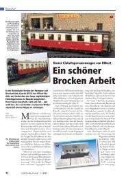 Ein schöner Brocken Arbeit - Horsts Gartenbahn Hamm