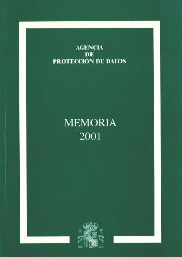 2001 - Agencia Española de Protección de Datos