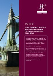 membership brochure - London Chamber of Commerce and Industry