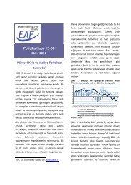 Küresel Kriz ve Maliye Politikası - EAF - Koç Üniversitesi