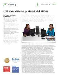 USB Virtual Desktop Kit (Modell U170) - NComputing Distributor