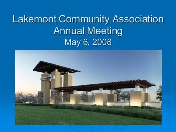 LAKEMONT COMMUNITY ASSOCIATION, INC. - Resident Interactive