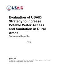Evaluation of USAID Strategy to Increase Potable Water Access and ...