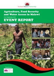 Agriculture, Food Security and Water - Scotland Malawi Partnership
