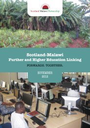 Scotland-Malawi Further and Higher Education Linking: Forwards ...