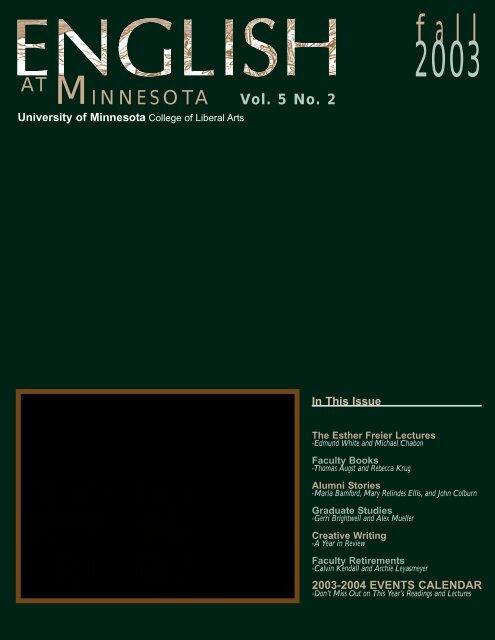fall M - Department of English - University of Minnesota