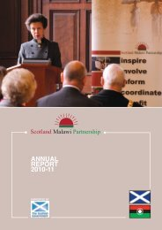 SMP 2010-11 Annual Report - Scotland Malawi Partnership