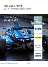 2013 FF EcoBoost 200 Regulations - British Formula Ford