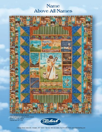 """""""Name Above All Names"""" quilt pattern - Favorite Fabrics"""