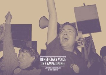 beneficiary voice in campaigning - National Council for Voluntary ...