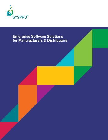 Enterprise Software Solutions for Manufacturers ... - ORG Consult