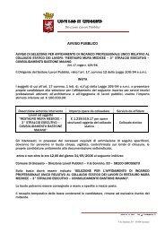 AVVISO PUBBLICO - Comune di Grosseto