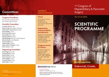 SCIENTIFIC PROGRAMME - Conventus Credo