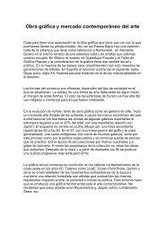Obra gráfica y mercado contemporáneo del arte - Aula de Bellas Artes