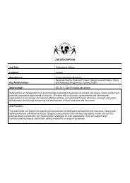 JOB DESCRIPTION Job Title: Publications Officer Location ... - Bond