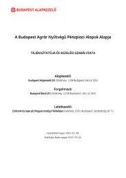 Az alap tájékoztatója és kezelési szabályzata - Budapest Bank