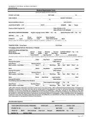 Student Registration Form - Mahopac Central School District