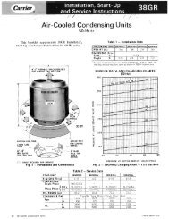 Air-Cooled Condensing Units - Carrier