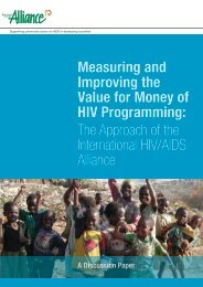Measuring and Improving the Value for Money of HIV ... - Bond