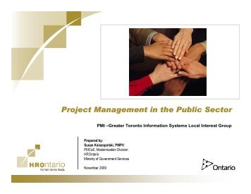 Project Management In The Public Sector - gt islig