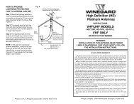 High Definition (HD) Platinum Antennas VHF/UHF ... - Winegard