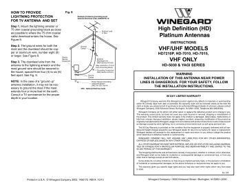 High Definition (HD) Platinum Antennas VHF/UHF ... - Winegard